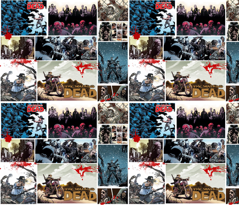 The Walking Dead in color 2 fabric by motleycruiser on Spoonflower - custom fabric