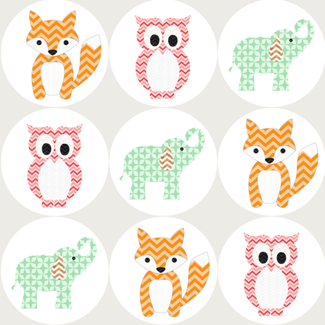 Baby Animals fabric by allisonkreftdesigns on Spoonflower - custom fabric