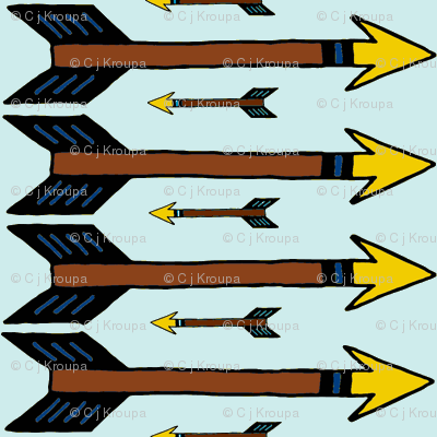 Arrows (blue and gold)
