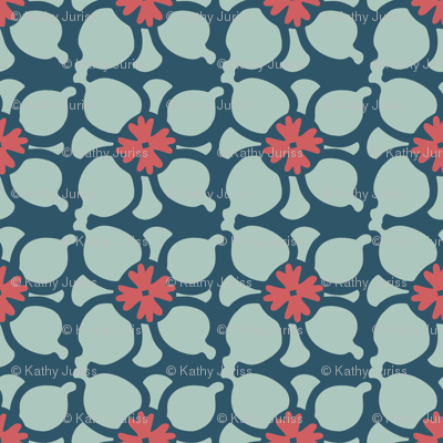 Flower Combo Dark Blue