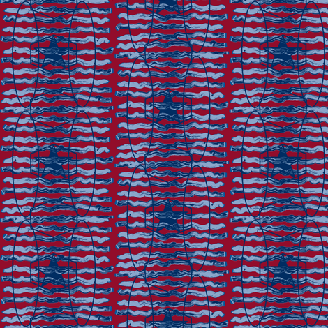 Red and Blue Stripes and Stars fabric by ravynscache on Spoonflower - custom fabric