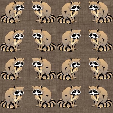Melancholy Raccoons fabric by ravynscache on Spoonflower - custom fabric