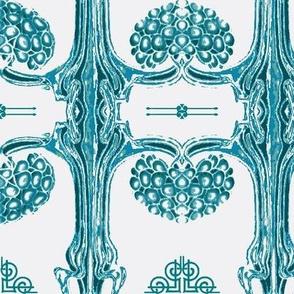 Art Nouveau35-white/teals
