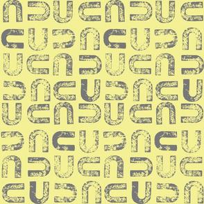 U2 - linen Gray on yellow