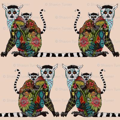 lemur love pale blush