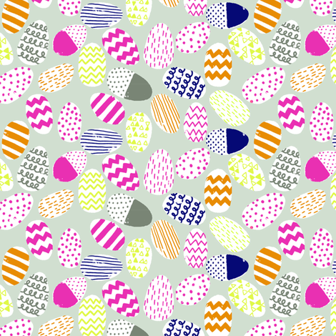 eggs fabric by cleverviolet on Spoonflower - custom fabric