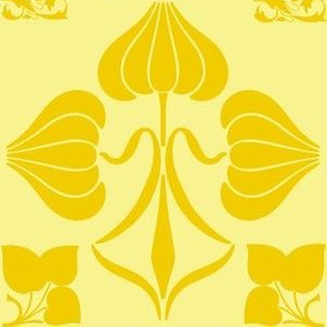 Art Nouveau43-yellow/gold
