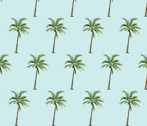 Palm tree  fabric by mezzime on Spoonflower - custom fabric