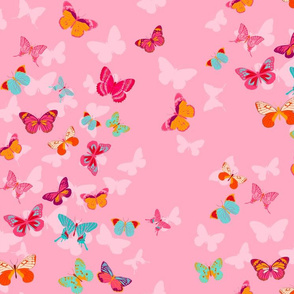 Butterfly Effect in pink