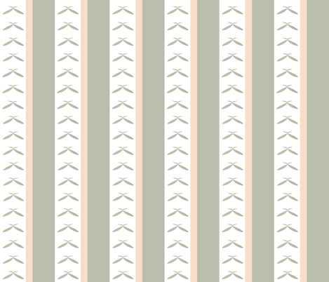 Countryside Bees Stripe fabric by karenharveycox on Spoonflower - custom fabric