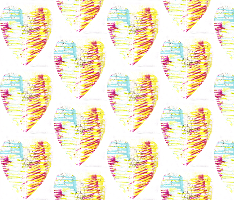 Messy Hearts fabric by asouthernladysdesigns on Spoonflower - custom fabric
