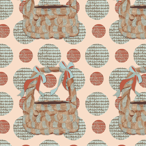 Tisket, Tasket Polka Dot Basket fabric by karenharveycox on Spoonflower - custom fabric