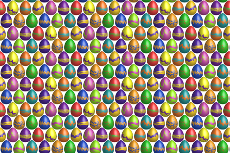 A Dozen Eggs in a Dozen Colors fabric by coloroncloth on Spoonflower - custom fabric