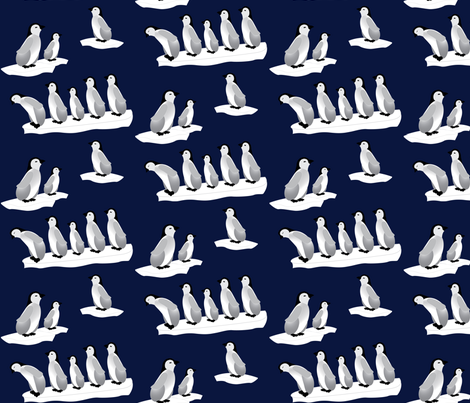 Baby Penguins fabric by hmooreart on Spoonflower - custom fabric