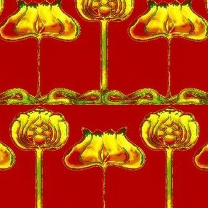 Art Nouveau31-red/yellow