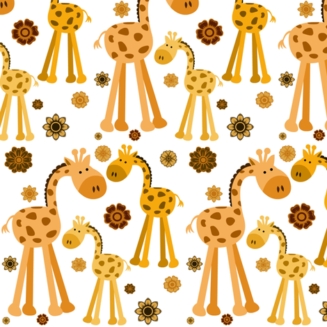GIRAFFES fabric by bluevelvet on Spoonflower - custom fabric