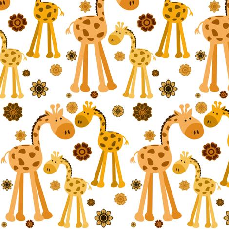 GIRAFFES fabric by bluevelvet on Spoonflower - custom fabric