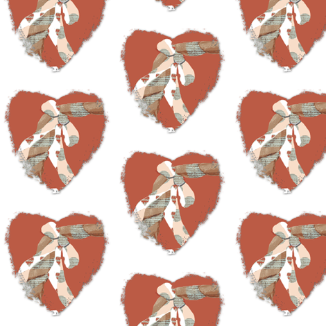 Bees Knees Hearts fabric by karenharveycox on Spoonflower - custom fabric