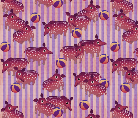 baby_tapir_caper fabric by glimmericks on Spoonflower - custom fabric