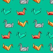 Michael's swan origami