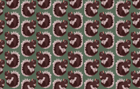 Squirrel fabric by pond_ripple on Spoonflower - custom fabric