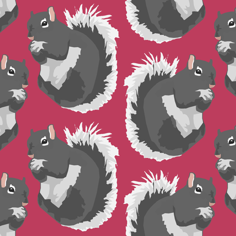 Gray Squirrels fabric by pond_ripple on Spoonflower - custom fabric