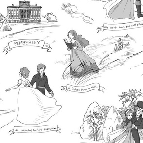 Pride and Prejudice Toile