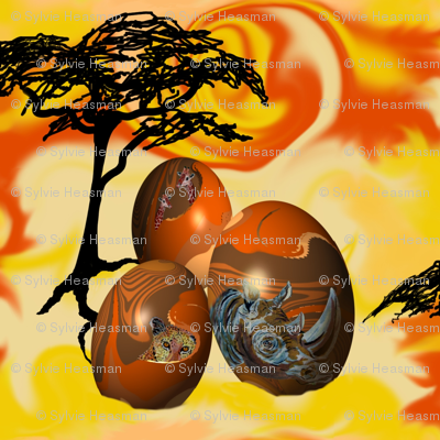 African_Painted_Eggs by Sylvie