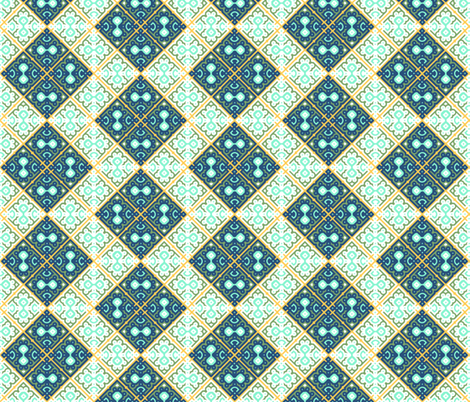 Moroccan Mosaic Tiles fabric by fridabarlow on Spoonflower - custom fabric