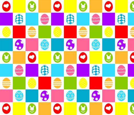Checkerboard Eggs fabric by rosaleendhu on Spoonflower - custom fabric