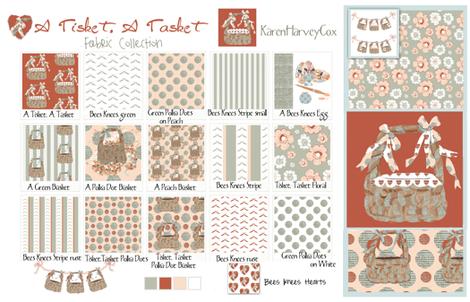 A Tisket, A Tasket Fabric Collection Cotton Sateen Sampler