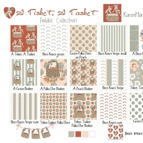 A Tisket, A Tasket Fabric Collection Cotton Sateen Sampler