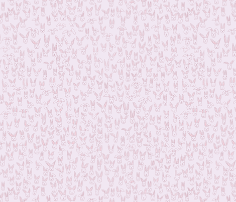 Bunny Pile (pink) fabric by papermoonpatterns on Spoonflower - custom fabric