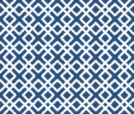 Weave Ikat in Navy Blue or Indigo fabric by fridabarlow on Spoonflower - custom fabric