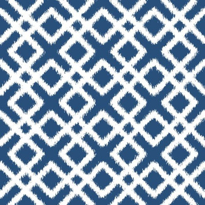 Weave Ikat in Navy Blue or Indigo