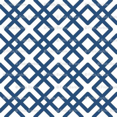 Modern Weave in Navy Blue
