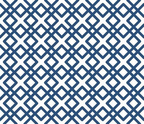 Modern Weave in Navy Blue fabric by fridabarlow on Spoonflower - custom fabric
