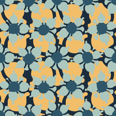 Bubble Flower Apricot fabric by kathyjuriss on Spoonflower - custom fabric