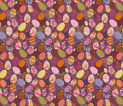 Easter Joy ! fabric by demigoutte on Spoonflower - custom fabric