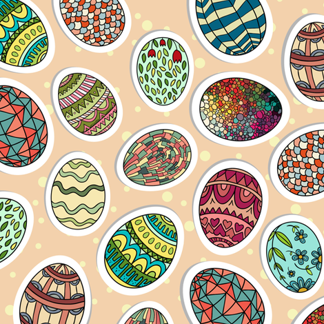 Easter Eggs fabric by khandisha on Spoonflower - custom fabric