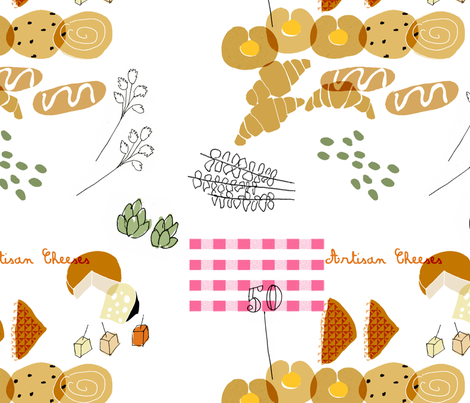 Farmers Market fabric by francescaiannaccone on Spoonflower - custom fabric