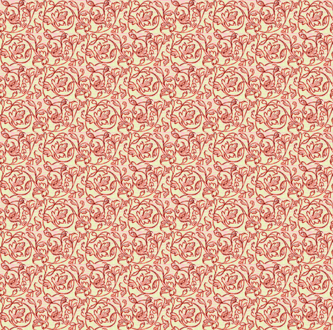 Bramble Rose fabric by amyvail on Spoonflower - custom fabric