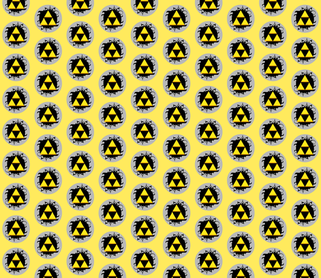 Ornate triforce fabric by occiferbetty on Spoonflower - custom fabric