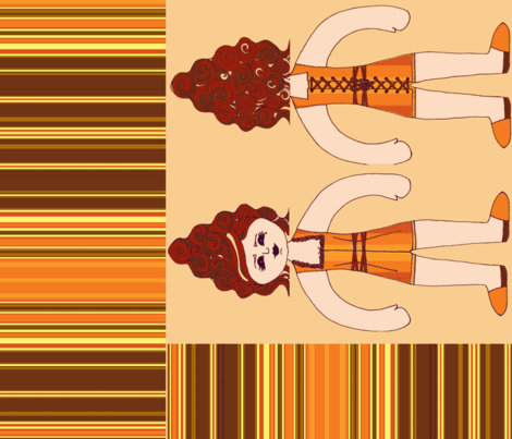 Pumpkin Doll fabric by fentonslee on Spoonflower - custom fabric