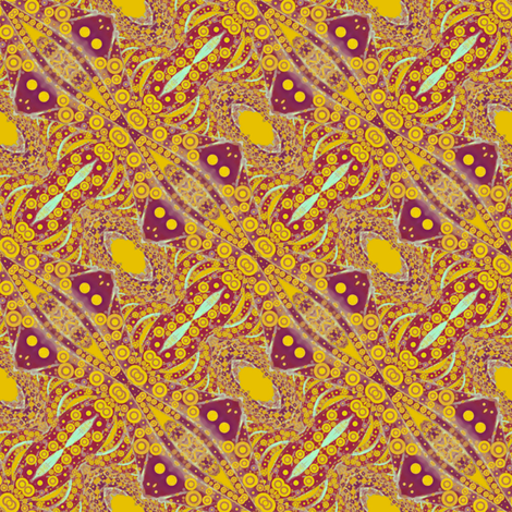 Golden Eye, Windmill Repeat fabric by elramsay on Spoonflower - custom fabric