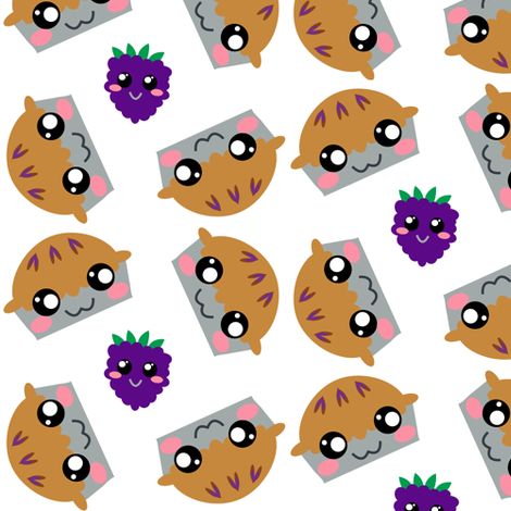 Blackberry Pie - Pi Day! - © PinkSodaPop 4ComputerHeaven.com fabric by pinksodapop on Spoonflower - custom fabric