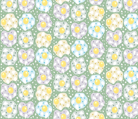 Painted Eggs with a Twist fabric by jabiroo on Spoonflower - custom fabric