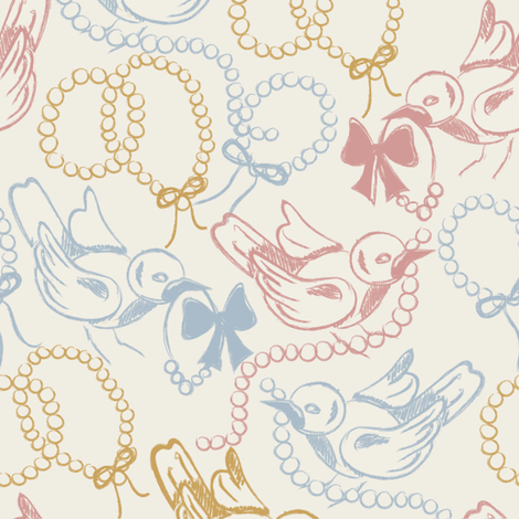 Sketchy Bird fabric by gabriellecox on Spoonflower - custom fabric