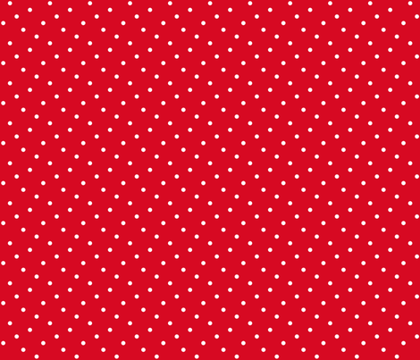 Summer Cottage - Red Dots fabric by jenny_allsorts on Spoonflower - custom fabric