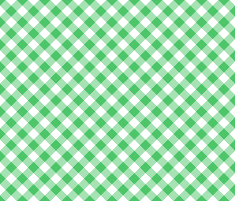 Summer Cottage - Green Bias Gingham fabric by jenny_allsorts on Spoonflower - custom fabric